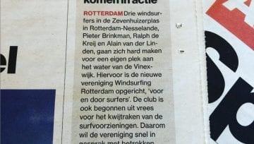 Windsurfing Rotterdam in het Algemeen dagblad