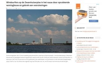 Windsurfing Rotterdam op Gouwe IJssel nieuws