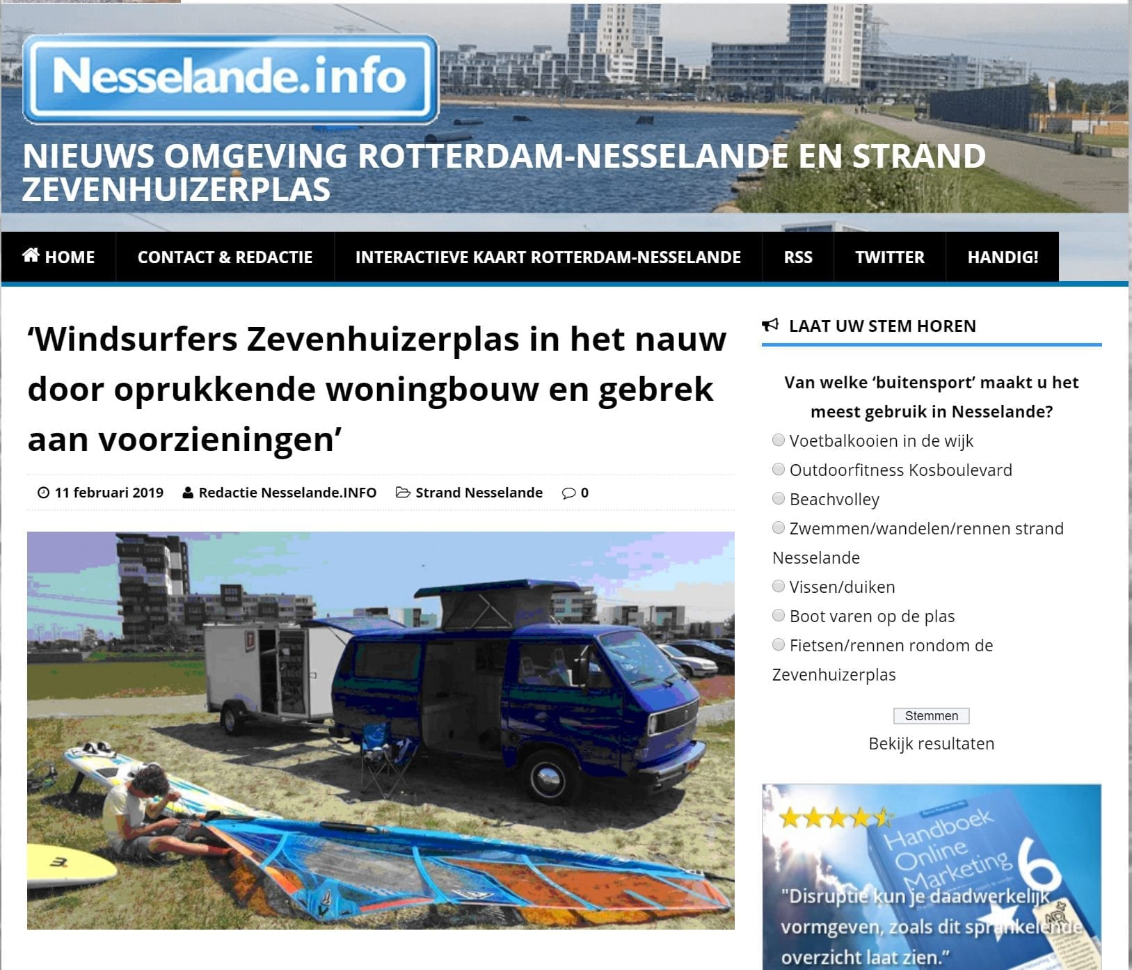 nesselande-info publicatie windsurfing rotterdam