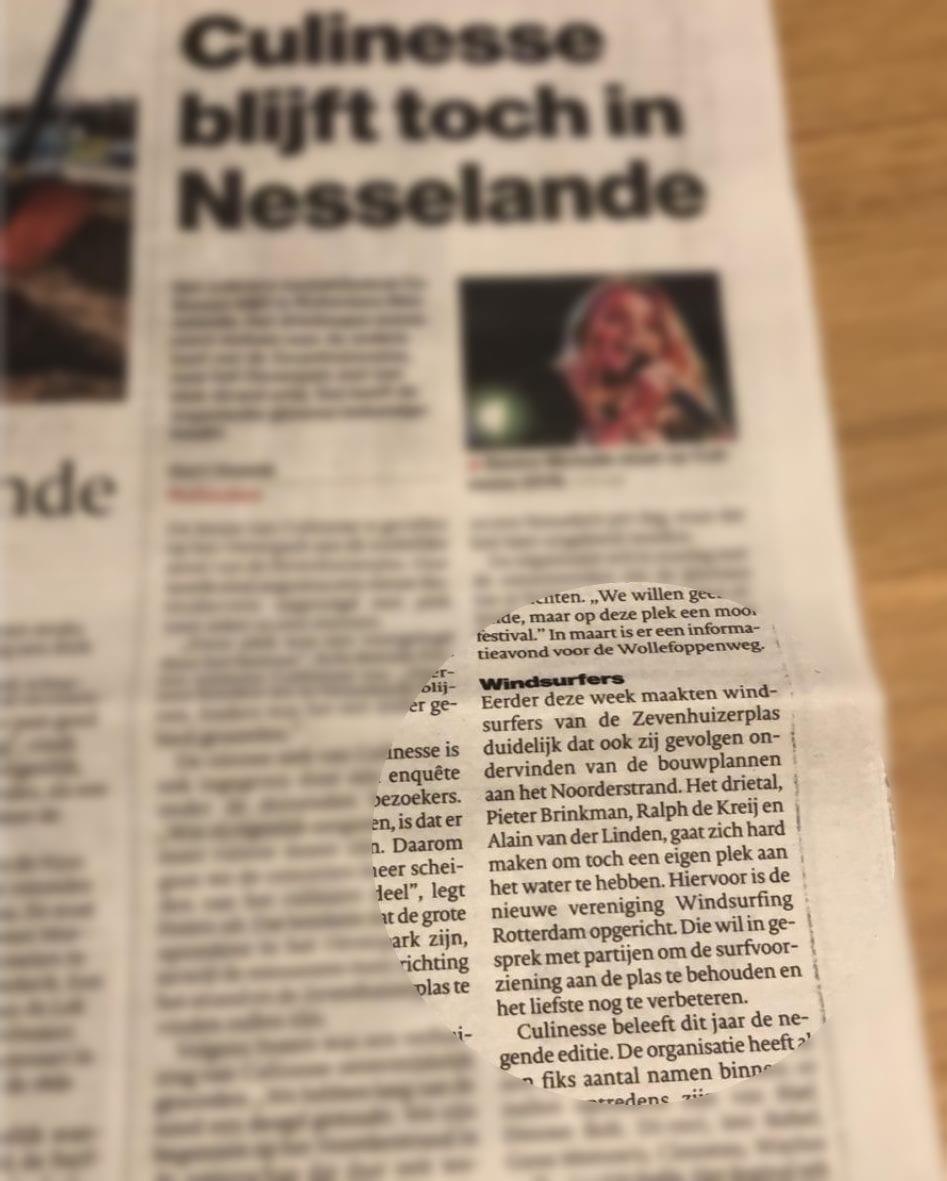 windsurfing rotterdam Algemeen dagblad krant